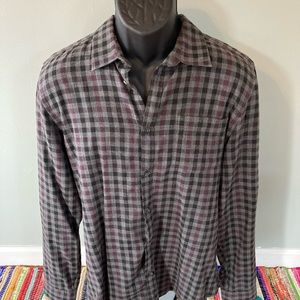 NEW Calvin Klein Flannel Checker Fall Shirt Medium